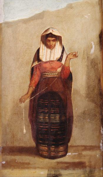 Francisco Laso. La hilandera